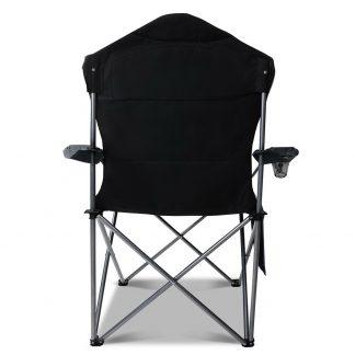Set of 2 Portable Folding Camping Armchair - Grey