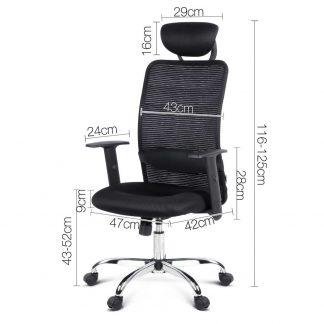Mesh High Back Office Desk Chair - Black