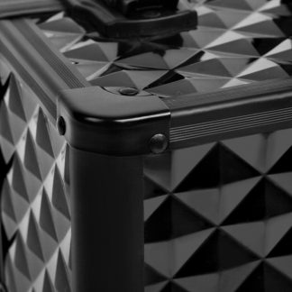 Embellir Portable Cosmetic Beauty Makeup Case - Diamond Black