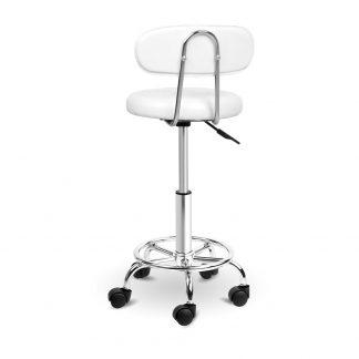 Artiss PU Leather Swivel Salon Stool - White