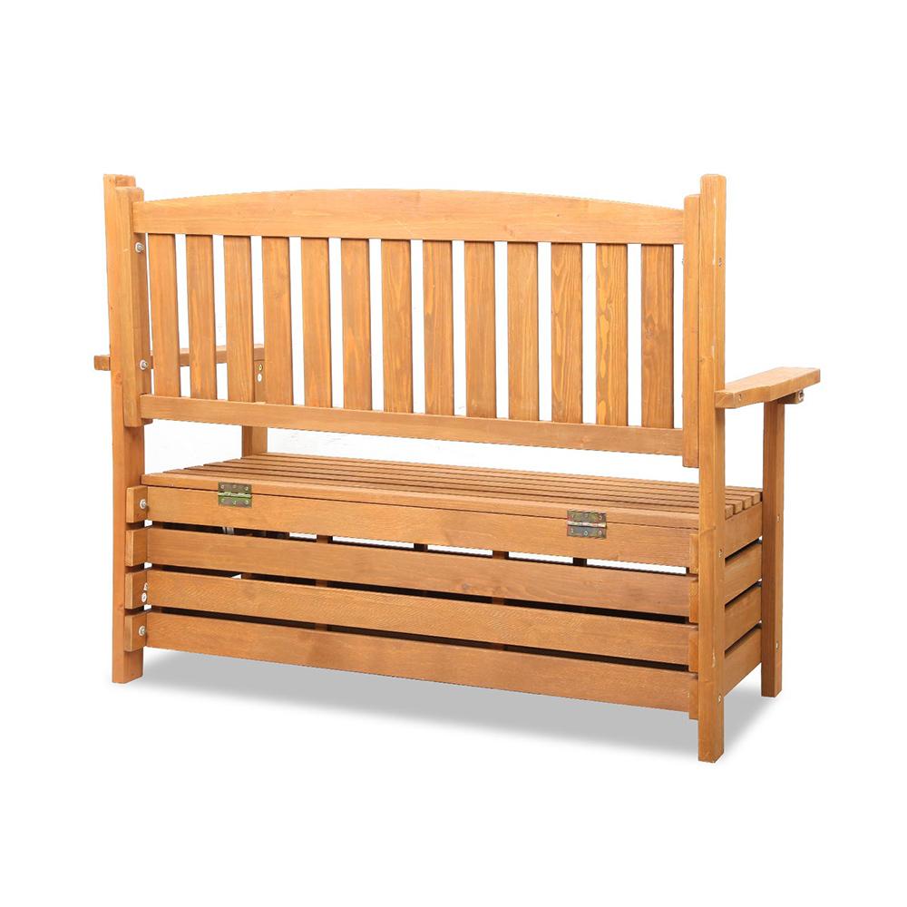 Remarkable Gardeon 2 Seat Wooden Outdoor Storage Bench Spillarosales Uwap Interior Chair Design Uwaporg