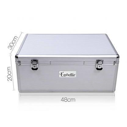 Embellir 500 Disc Aluminium Storage Box - Silver