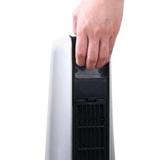 Devanti 2400W Electric Ceramic Tower Heater - Silver