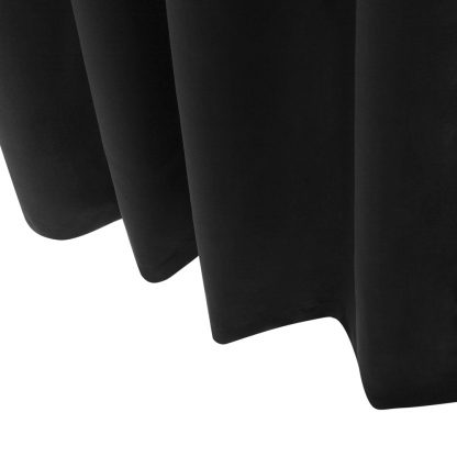 Art Queen 2 Panel 300 x 230cm Eyelet Block Out Curtains - Black