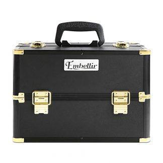 Embellir Portable Cosmetic Beauty Makeup Case - Black & Gold