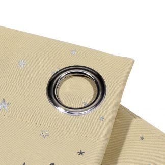 Art Queen 2 Star Blockout 240x213cm Blackout Curtains - Latte