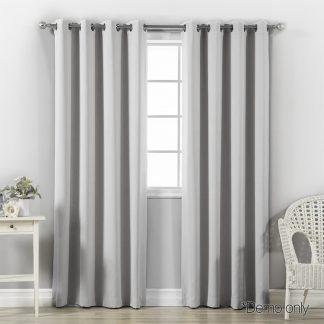 Art Queen 2 Panel 180 x 230cm Block Out Curtains - Light Grey
