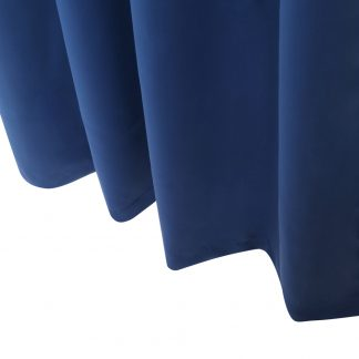 Art Queen 2 Panel 240 x 230cm Eyelet Block Out Curtains - Navy