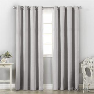 Art Queen 2 Panel 140 x 213cm Block Out Curtains - Light Grey