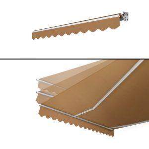 Instahut Motorised 3x2.5m Folding Arm Awning - Beige