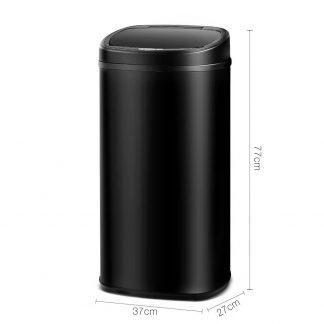 68L Motion Sensor Rubbish Bin - Black