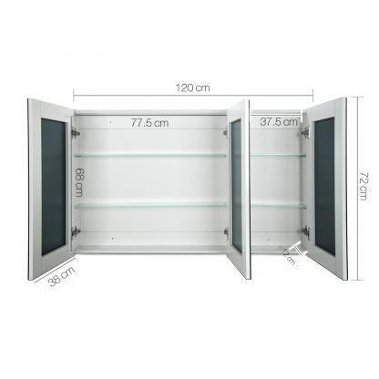 Cefito Bathroom Vanity Mirror with Storage Cabinet - White