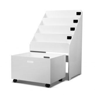 Artiss Kids Wooden Bookshelf - White