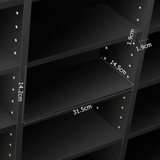Artiss Adjustable Book Storage Shelf Rack Unit - Black