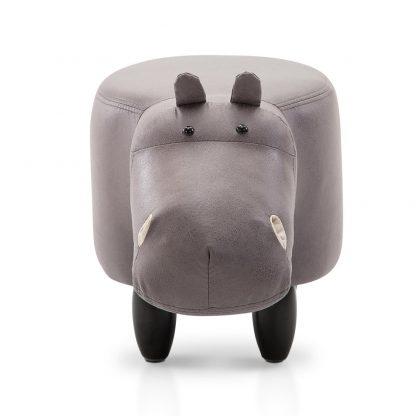 Artiss Kids Hippo Animal Stool - Grey