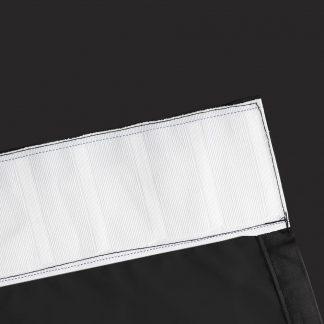 Artqueen 2X Pinch Pleat Pleated Blockout Curtains Black 140cmx230cm