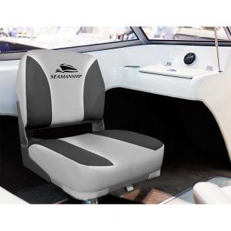 Seamanship Set of 2 Folding Swivel Boat Seats - Grey
