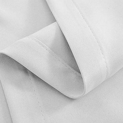 Artqueen 2X Pinch Pleat Pleated Blockout Curtains White 180cmx213cm