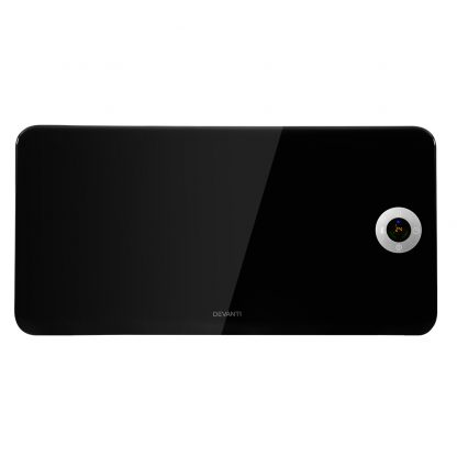 Devanti Electric Convection Metal Panel Heater Heat Portable Wall Mount WiFi Control Black