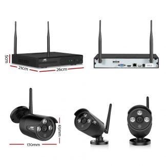 UL-TECH 1080P 8CH Wireless Security Camera NVR Video