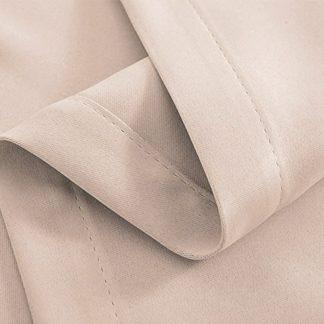 Artqueen 2X Pinch Pleat Pleated Blockout Curtains Sand 300cmx230cm