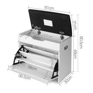 Artiss Adjustable 3 Tier Storage Cupboard - White