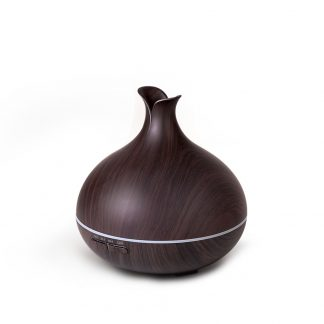 DEVANTI Aroma Diffuser Air Humidifier Dark Wood Grain 400ml
