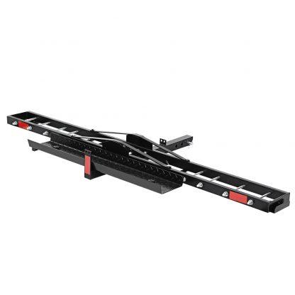 "Giantz Motorcycle Carrier Hauler 2"" Hitch Mount Rack Ramp Anti Tilt Tow Bar"