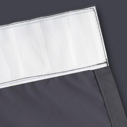 Artqueen 2X Pinch Pleat Pleated Blockout Curtains Dark Grey 140cmx213cm