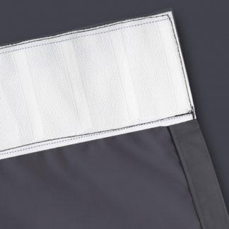 Artqueen 2X Pinch Pleat Pleated Blockout Curtains Dark Grey 140cmx230cm