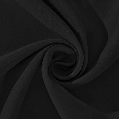 Artqueen 2X Pinch Pleat Pleated Blockout Curtains Black 180cmx213cm