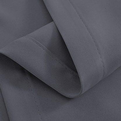 Artqueen 2X Pinch Pleat Pleated Blockout Curtains Dark Grey 180cmx213cm