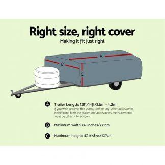 WEISSHORN 12-14 ft Camper Trailer Travel Cover Tent 3.6-4.2m Caravan Swan