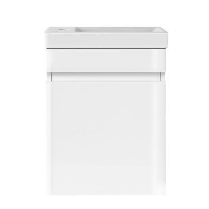 Cerfito Bathroom Vanity Ceramic Basin Sink Cabinet Wall Hung White