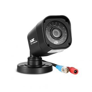 UL-TECH 8CH 5 IN 1 DVR CCTV Security System Video Recorder /w 8 Cameras 1080P HDMI Black