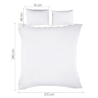 Giselle Bedding King Size Classic Quilt Cover Set - White