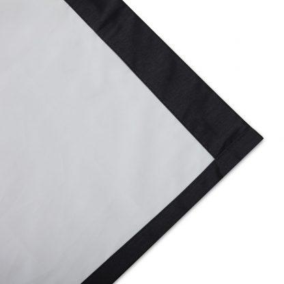 Art Queen 2 Panel 180 x 230cm Eyelet Blockout Curtains - Black