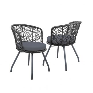 Gardeon Outdoor Patio Chair and Table - Black