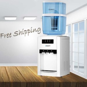 22L Countertop Water Dispenser Bench Top Cooler Filter Purifier Hot Cold Room Temperature Three Taps