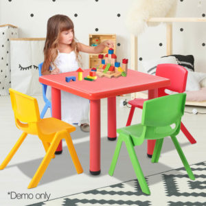 KPF TBCH RD 5PC 13 300x300 - Keezi 5 Piece Kids Table and Chair Set - Red