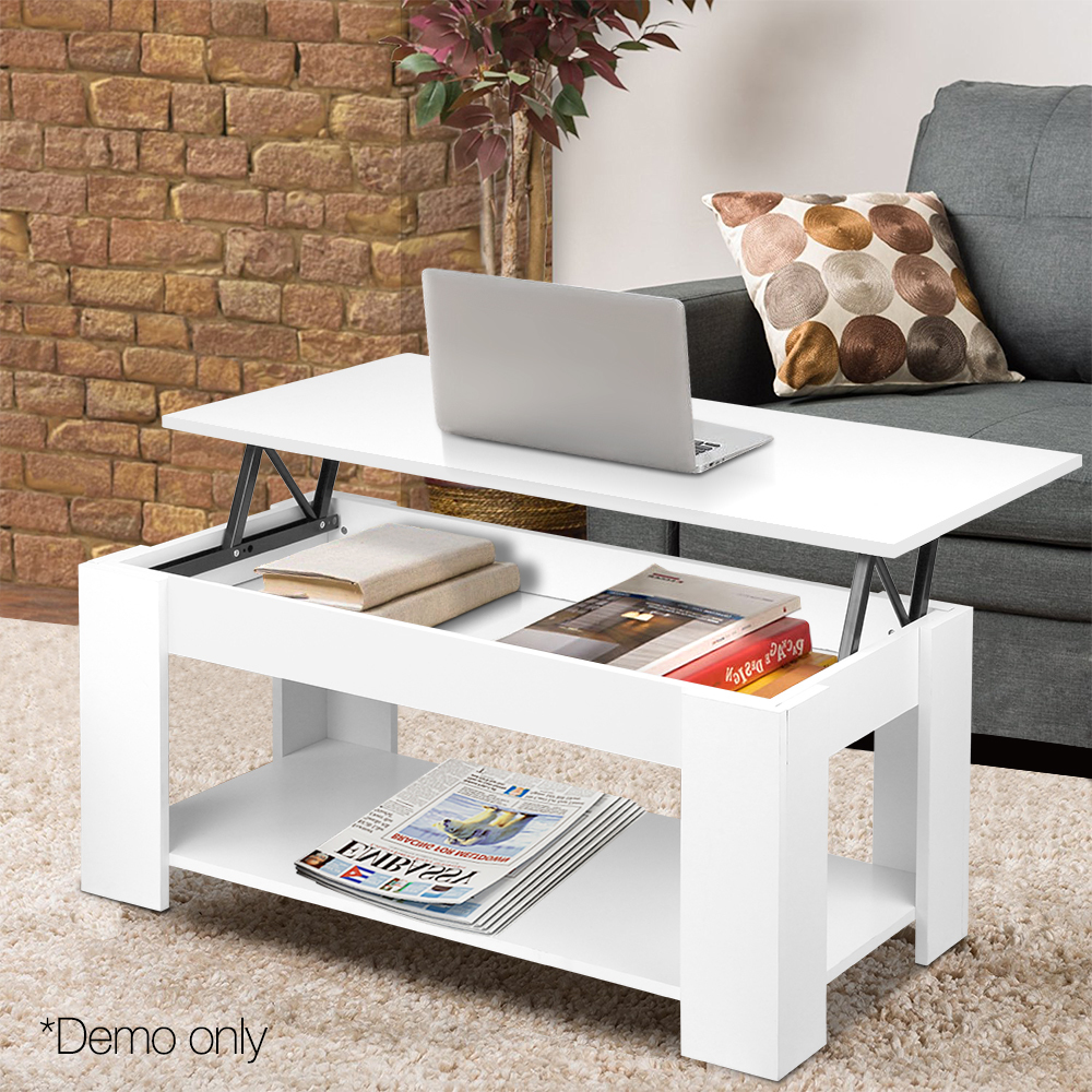Strange Artiss Lift Top Coffee Table Lift Up Top Mechanical Coffee Table Storage White Andrewgaddart Wooden Chair Designs For Living Room Andrewgaddartcom