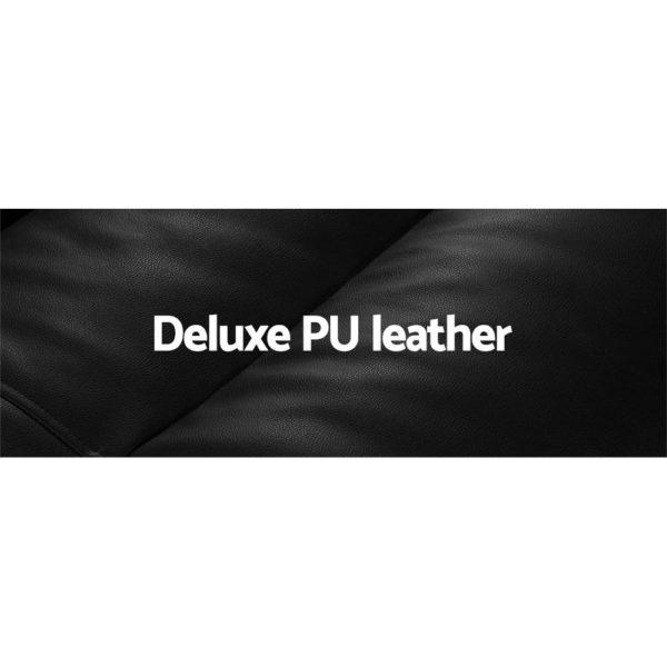 FLOOR SBL 200PU S BK 04 1 600x600 - Artiss Lounge Sofa DOUBLE Floor Recliner Chaise Chair Folding PU leather Black