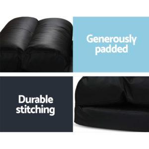 FLOOR SBL 200PU S BK 05 1 300x300 - Artiss Lounge Sofa DOUBLE Floor Recliner Chaise Chair Folding PU leather Black