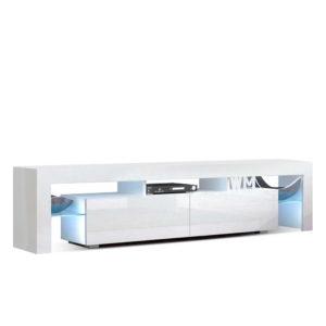FURNI L TV189 WH AB 00 300x300 - Artiss 189cm RGB LED TV Stand Cabinet Entertainment Unit Gloss Furniture Drawers Tempered Glass Shelf White
