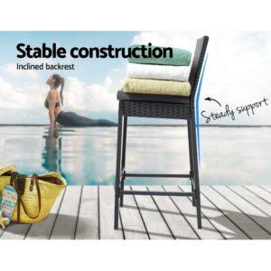 ODF BAR CHAIR BK 2X 03 300x300 - Gardeon Outdoor Bar Stools Dining Chairs Rattan Furniture X2