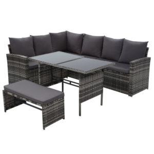 ODF SDLUX 1BENCH GE 00 300x300 - Gardeon Outdoor Furniture Sofa Set Dining Setting Wicker 8 Seater Mixed Grey