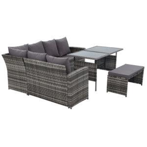 ODF SDLUX 1BENCH GE 03 300x300 - Gardeon Outdoor Furniture Sofa Set Dining Setting Wicker 8 Seater Mixed Grey