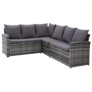 ODF SDLUX 1BENCH GE 05 300x300 - Gardeon Outdoor Furniture Sofa Set Dining Setting Wicker 8 Seater Mixed Grey