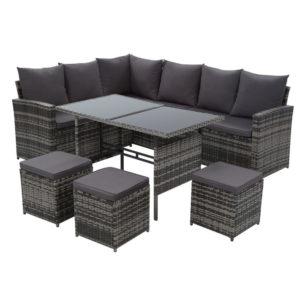 ODF SDLUX 3OTM GE 00 300x300 - Gardeon Outdoor Furniture Sofa Set Dining Setting Wicker 9 Seater Mixed Grey