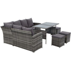 ODF SDLUX 3OTM GE 03 300x300 - Gardeon Outdoor Furniture Sofa Set Dining Setting Wicker 9 Seater Mixed Grey